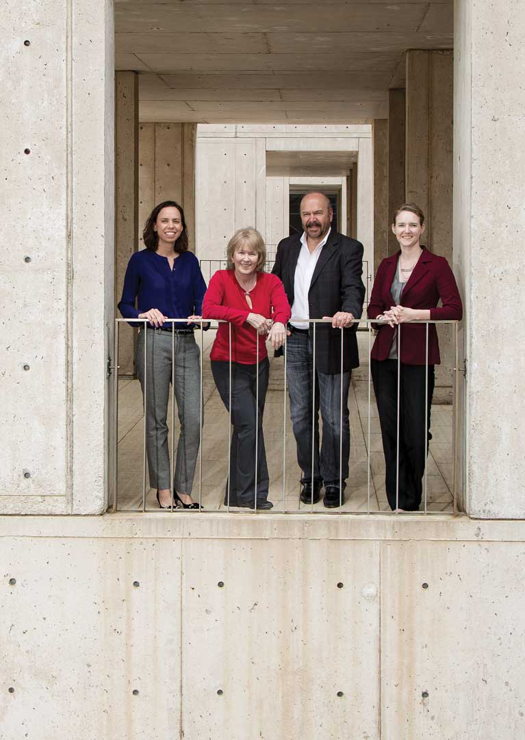 From left: Diana Hargreaves, Beverly Emerson, Joseph Ecker and Julie Law
